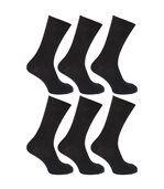 Floso - Chaussettes Striées 100% Coton (Lot De 6 Paires) - Homme (Noir) - UTMB185 preview1