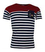 T-shirt rugby Marinière haut bordeaux France preview1