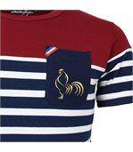 T-shirt rugby Marinière haut bordeaux France preview2