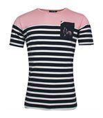 T-shirt de rugby Marinière à la rose preview1