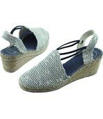 TANIA  VS Espadrilles Bout Fermés Tissus Bleu Marine Talon Compensé Marque Toni Pons Chaussures Femme Petites Pointures Tailles preview3