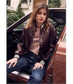 FRNCH T-shirt col rond à inscription CONSTANCE  Femme