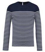 Marinière homme - t-shirt manches longues - K366 - bleu marine rayé preview1