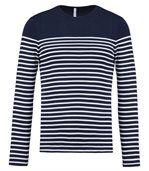 Marinière homme - t-shirt manches longues - K366 - bleu marine rayé preview2