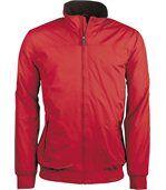 Blouson doublé polaire homme - K607 - rouge preview1