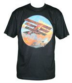 T-shirt homme manches courtes - Avion Fokker USA - 11213 - noir preview1