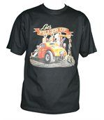 T-shirt homme manches courtes - Hot rod dragster USA - 11221 - Noir preview1
