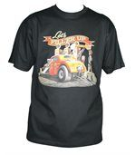 T-shirt homme manches courtes - Hot rod dragster USA - 11221 - Noir preview2