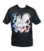 T-shirt homme manches courtes - Aigle américain USA - 10538 - noir preview2