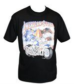 T-shirt homme manches courtes - Moto biker USA - 11671 - noir preview1