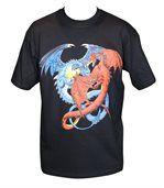 T-shirt homme manches courtes - dragons 8849 - noir preview1