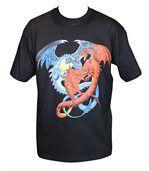 T-shirt homme manches courtes - dragons 8849 - noir preview2
