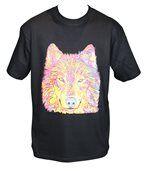 T-shirt HOMME manches courtes - Loup - 8429 - Noir preview1
