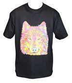 T-shirt HOMME manches courtes - Loup - 8429 - Noir preview2
