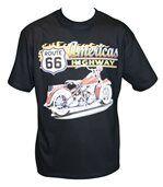 T-shirt homme manches courtes - biker USA 3946 - noir preview1
