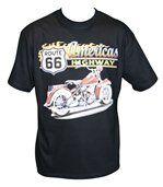 T-shirt homme manches courtes - biker USA 3946 - noir preview2