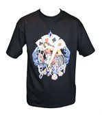 T-shirt homme manches courtes - biker sexy 12647 - noir preview2