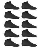 Lot 10 Paires de socquettes invisibles - PA037 - noir preview2