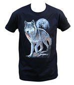 T-shirt homme manches courtes - Loup - 10380 - noir preview1