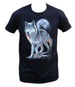 T-shirt homme manches courtes - Loup - 10380 - noir preview2