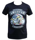 T-shirt homme manches courtes - Biker chopper USA - 10066 - noir preview2