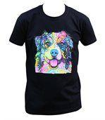 T-shirt homme manches courtes - Chien Berger australien 6371 - noir preview1