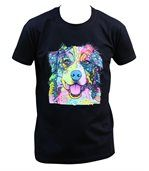 T-shirt homme manches courtes - Chien Berger australien 6371 - noir preview2
