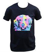 T-shirt homme manches courtes - Golden retriever 6760 - noir preview1