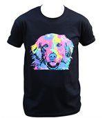 T-shirt homme manches courtes - Golden retriever 6760 - noir preview2