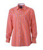 chemise manches longues carreaux vichy HOMME JN617 - orange preview1
