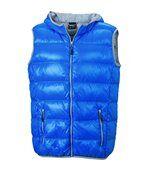 Bodywarmer duvet doudoune sans manches anorak homme - JN1062 - bleu preview2