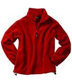 Sweat polaire col zippé homme - JN043 - rouge preview4