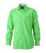 chemise manches longues carreaux vichy HOMME JN617 - vert preview2