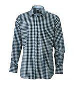 chemise manches longues carreaux vichy HOMME JN617 - noir preview1