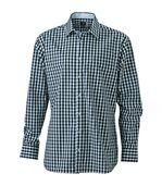 chemise manches longues carreaux vichy HOMME JN617 - noir preview2