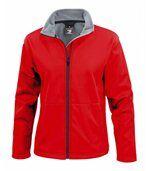 Veste softshell FEMME doublée micropolaire R209F - rouge preview1