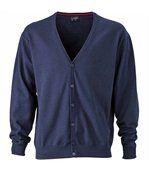 Gilet boutonné cardigan - HOMME - JN661 - bleu marine preview1