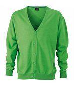Gilet boutonné cardigan - HOMME - JN661 - vert preview1