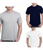 Lot 3 t-shirts 5XL Homme - taille américaine - Blanc - gris - navy preview1