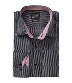 chemise manches longues - JN672 - HOMME - gris blanc - motifs wings preview2