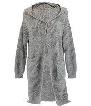 Gilet long capuche laine AMEDEE gris