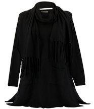 pull long ample + écharpe MARIANNE noir