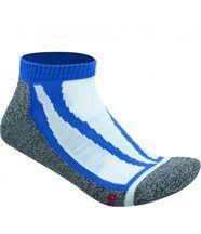 Chaussettes basses de sport - sneakers homme femme - JN209 - bleu et gris