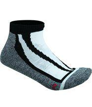 Chaussettes basses de sport - sneakers homme femme - JN209 - noir et gris