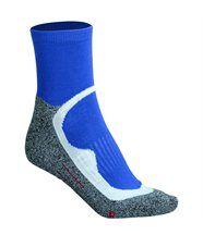 Chaussettes courtes de sport -homme femme - JN210 - bleu et gris