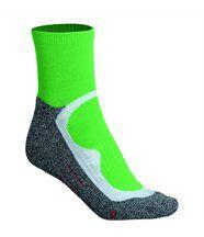 Chaussettes courtes de sport -homme femme - JN210 - vert et gris