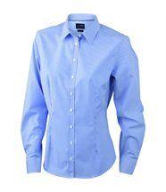 chemisier chemise manches longues FEMME rayures JN610 - bleu roi