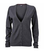 Gilet boutonné cardigan - FEMME - JN660 - gris anthracite