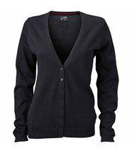 Gilet boutonné cardigan - FEMME - JN660 - noir