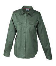 chemisier manches longues uni - 2 poches poitrine - JN605 - FEMME - vert olive